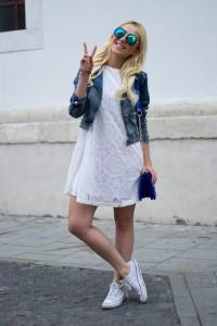 с чем носить белые кеды фото (6)