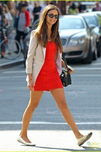 Nina Dobrev Looking Chic as She Strolls Through NYC