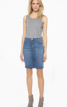 с чем носить джинсовую юбку карандаш фото (1)