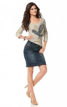 с чем носить джинсовую юбку карандаш фото (13)