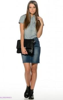 с чем носить джинсовую юбку карандаш фото (7)