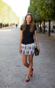 юбки и шорты с балетками фото (10)