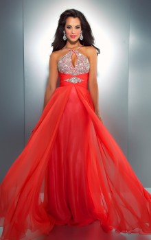 LxNIaxFgCi_Mac_Duggal_2013_Prom_Dresses-Hot_Coral_Chiffon_Halter_Gown_with_Embellishments