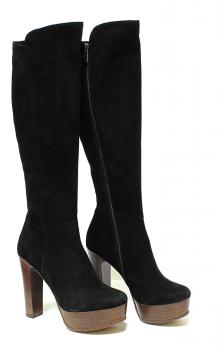 модные сапоги на каблуке фото (1)