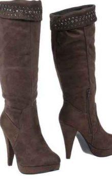 модные сапоги на каблуке фото (11)