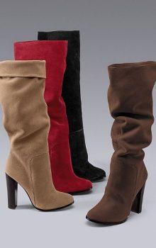 модные сапоги на каблуке фото (16)