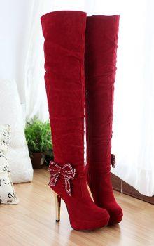 модные сапоги на каблуке фото (7)