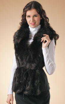 модные жилеты меховые фото (20)