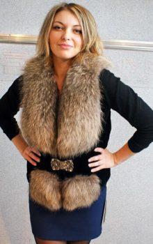 модные жилеты меховые фото (28)