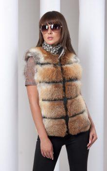 модные жилеты меховые фото (4)