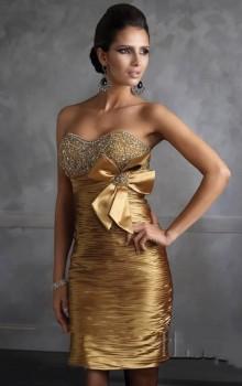 золотой цвет для платьев 2017 фото (3)
