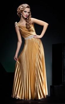 золотой цвет для платьев 2017 фото (5)