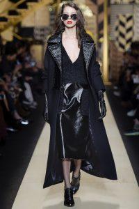 модные кожаные юбки 2017 фото (10)