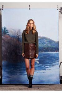 модные кожаные юбки 2017 фото (13)