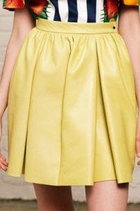 модные кожаные юбки 2017 фото (14)