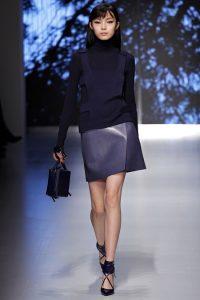 модные кожаные юбки 2017 фото (3)