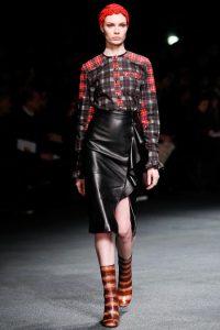 модные кожаные юбки 2017 фото (4)