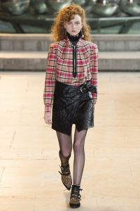 модные кожаные юбки 2017 фото (7)