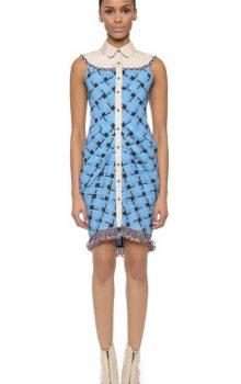 модные платья с абстактным рисунком 2017 фото (11)