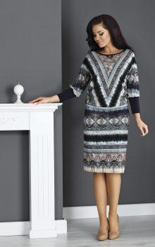 модные платья с абстактным рисунком 2017 фото (13)