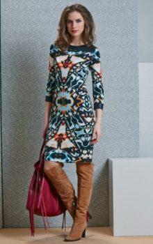 модные платья с абстактным рисунком 2017 фото (16)