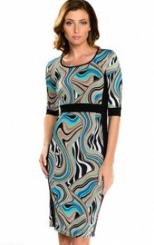 модные платья с абстактным рисунком 2017 фото (2)