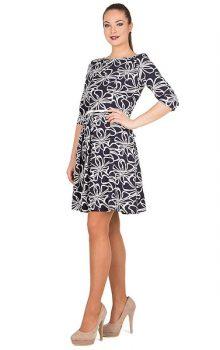 модные платья с абстактным рисунком 2017 фото (5)