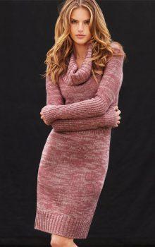 модные платья-свитер 2017 фото (10)