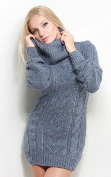 модные платья-свитер 2017 фото (2)