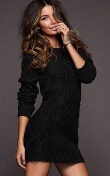 модные платья-свитер 2017 фото (6)