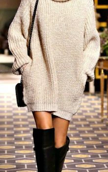 модные платья-свитер 2017 фото (7)
