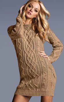 модные платья-свитер 2017 фото (8)