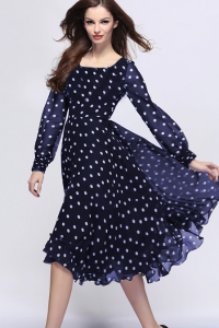 модные шифоновые платья 2017 фото (33)