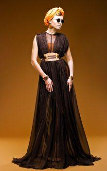 модные шифоновые платья 2017 фото (40)