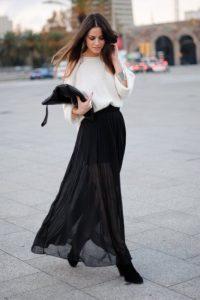 с чем носить длиную юбку 2017 фото (29)
