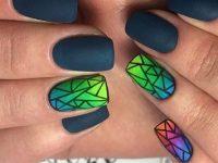 Модная геометрия для дизайна ногтей 2018