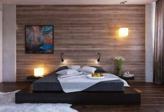Отделка стен в спальне 2017 фото (1)