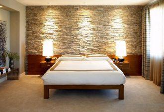 Отделка стен в спальне 2017 фото (10)