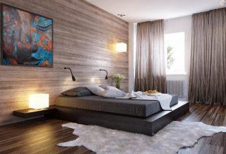Отделка стен в спальне 2017 фото (12)