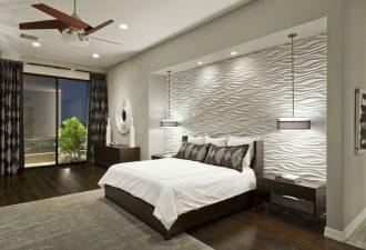 Отделка стен в спальне 2017 фото (14)