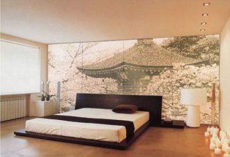 Отделка стен в спальне 2017 фото (2)