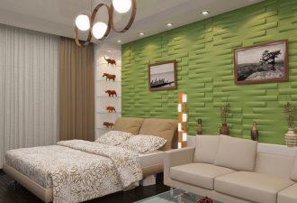 Отделка стен в спальне 2017 фото (7)