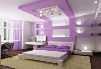 Потолок в спальне фото (1)