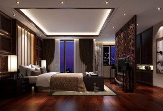 Потолок в спальне фото (2)