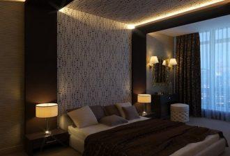 Потолок в спальне фото (6)