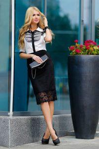 С чем носить гипюровую юбку фото (28)