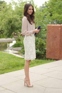 С чем носить гипюровую юбку фото (33)