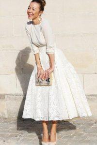 С чем носить гипюровую юбку фото (5)