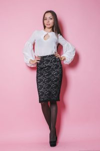 С чем носить гипюровую юбку фото (56)