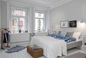 Скандинавский стиль в спальне 2017 фото (1)